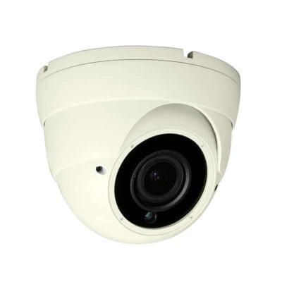 Karbon Visions HD TVI 5MP Varifocal IR Eyeball Dome Camera Ivory K6510