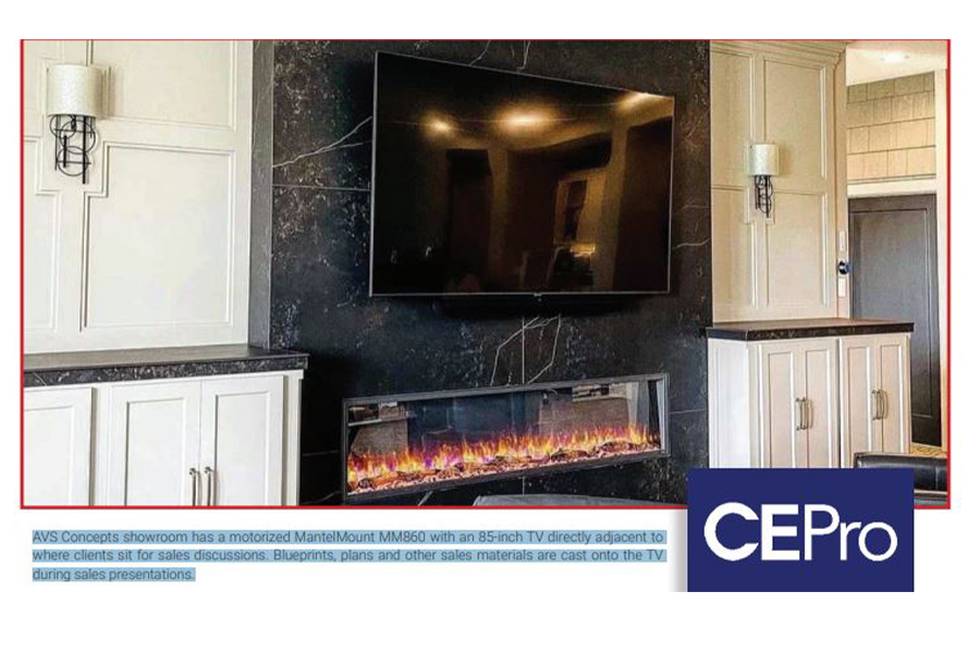 MantelMount:Integrator Finds Ingenious Way to Sell Over-Fireplace TVs